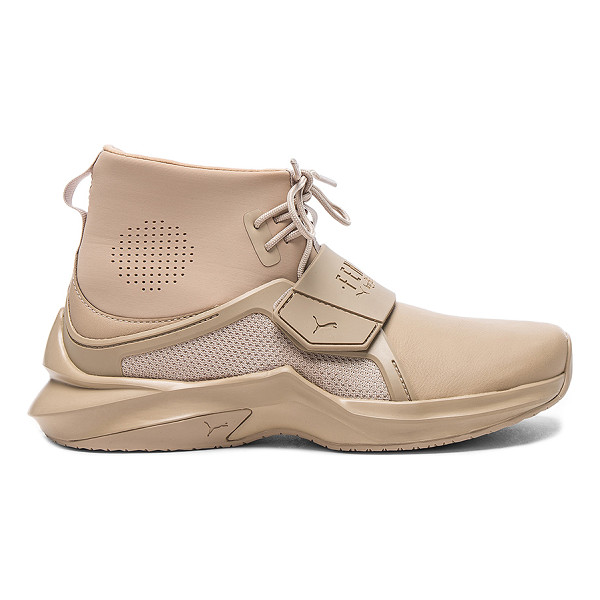FENTY PUMA BY RIHANNA Trainer Sneaker - Leather upper with rubber sole. Lace-up front. Velcro strap...