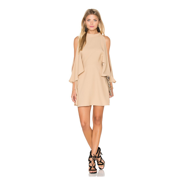 FINDERS KEEPERS Real Slow Dress - 100% poly. Hand wash cold. Unlined. Flared cape sleeves....
