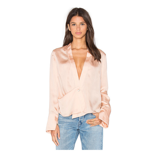 FINDERS KEEPERS Start Believing Top - 100% poly. Hand wash cold. Pleated front with button...