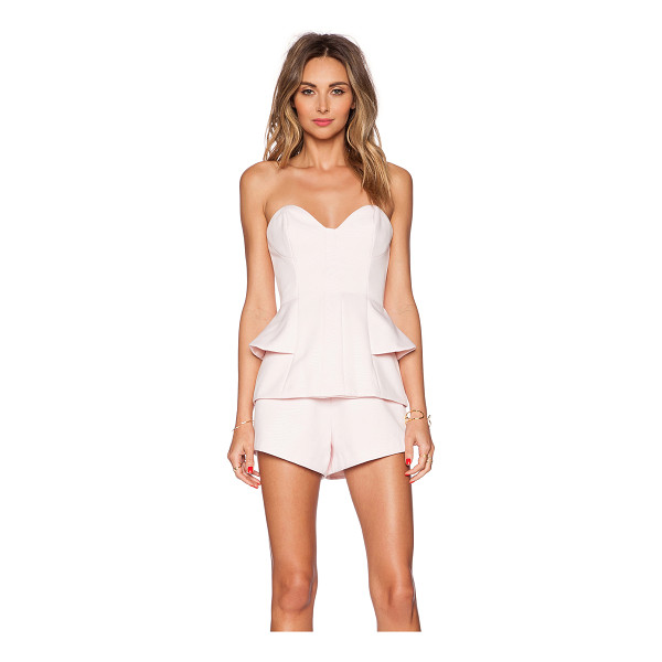 FINDERS KEEPERS Take a shot playsuit - Main: 97% poly 3% elastaneLining: 100% poly. Back exposed...