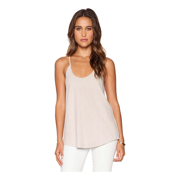 FINE COLLECTION Tank - Self: 100% genuine leatherContrast: 100% linen. Hand wash...