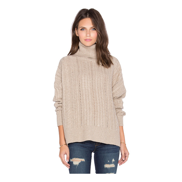 FINE COLLECTION Turtleneck sweater - 80% wool 20% cashmere. Hand wash cold. Rib knit fabric....