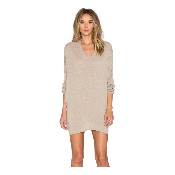 FINE COLLECTION V neck sweater dress - 80% wool 20% cashmere. Hand wash cold. Unlined. FINE-WD2....