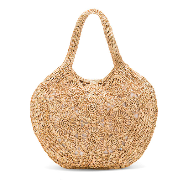 "FLORABELLA Tortola Tote - ""Woven straw exterior with canvas lining. Top magnetic..."