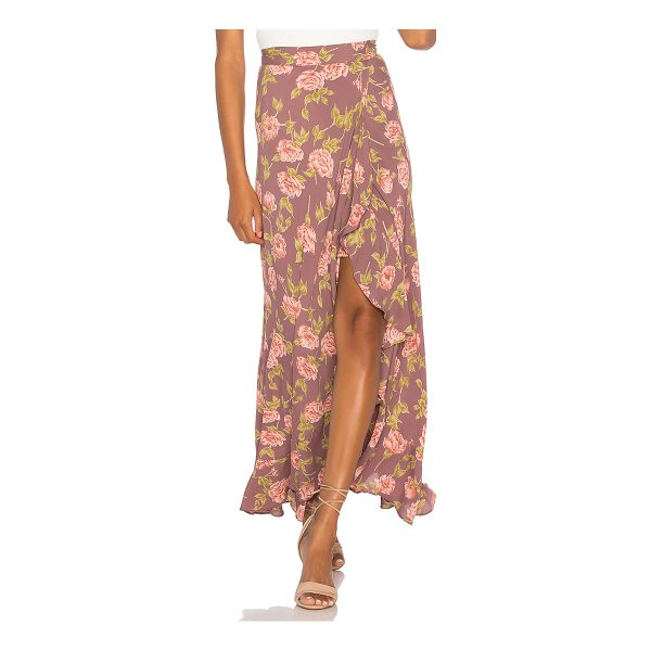 """FLYNN SKYE Monica Maxi Skirt - """"Rayon blend. Dry clean only. Unlined. Front slit. Ruffle..."""