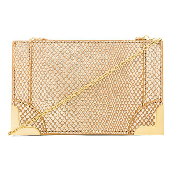 FOLEY + CORINNA Framed petite crossbody - Snake embossed leather exterior with printed fabric lining....