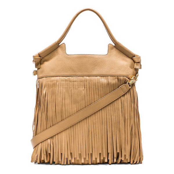 FOLEY + CORINNA Fringed city tote - Leather exterior with printed fabric lining. Measures...