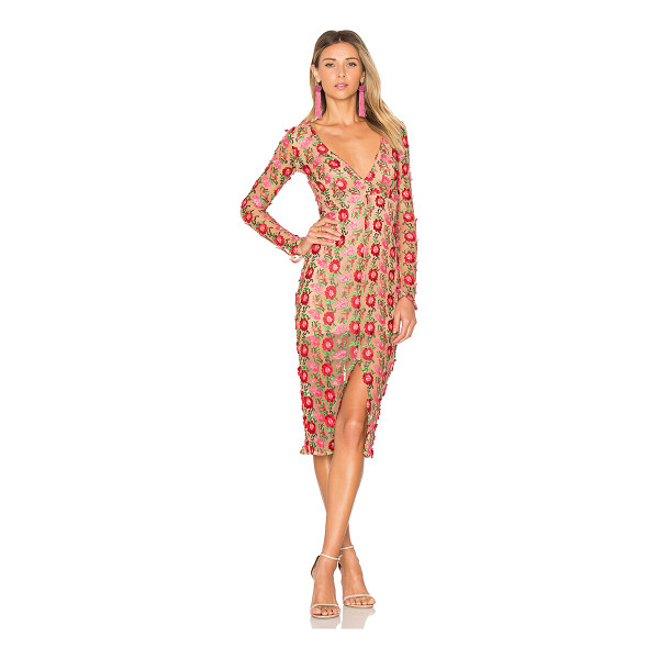 FOR LOVE & LEMONS Amelia Textured Midi Dress - Eternally floral. Intricate embroidered details and...