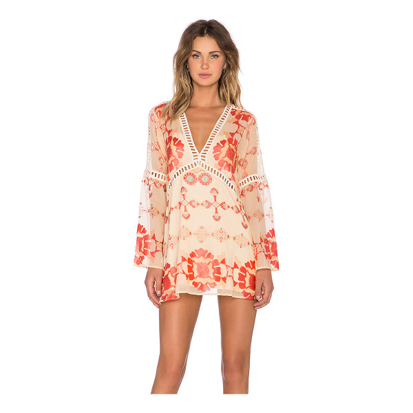 FOR LOVE & LEMONS Barcelona a-line dress - Self: 50% poly 50% rayonLining: 90% poly 10% spandex. Dry...