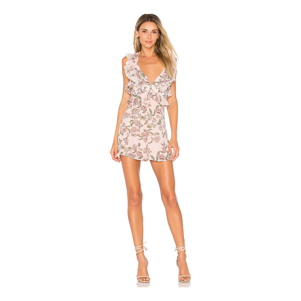 FOR LOVE & LEMONS Bee Balm Floral Romper - On the highway to loving life. Wrapped in florals, the Bee