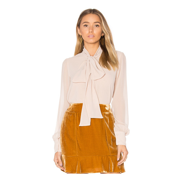 FOR LOVE & LEMONS Belle Blouse - 100% poly. Dry clean only. Front button closure. Neck tie....
