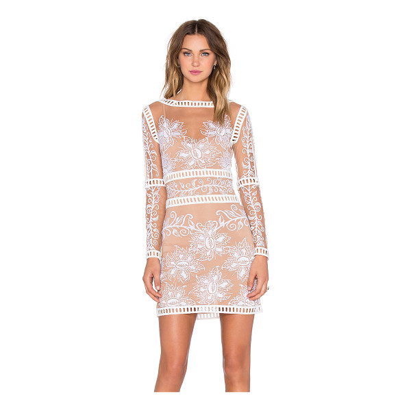 FOR LOVE & LEMONS Desert Nights Mini Dress - Self: 100% polyLining: 90% poly 10% spandex. Dry clean...