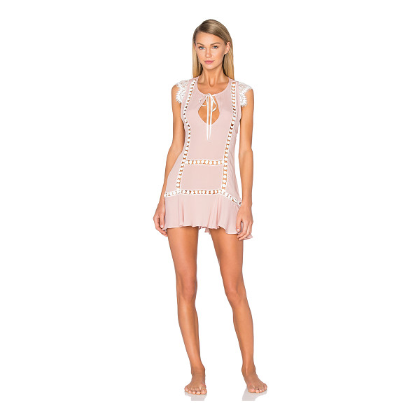 FOR LOVE & LEMONS Emmy nightie - Silk blend. Hand wash cold. Unlined. Neckline keyhole with...