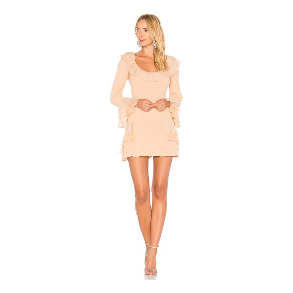 FOR LOVE & LEMONS Evie Mini Dress - Rayon blend. Dry clean only. Unlined. Tulle trim. Ruffle...