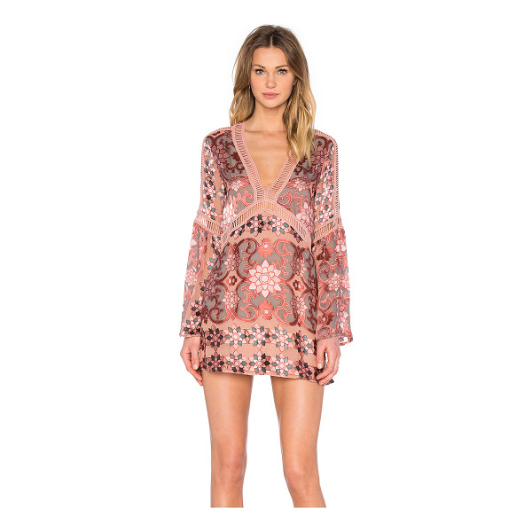 FOR LOVE & LEMONS Juliet A-Line Dress - Self: 55% silk 45% viscoseLining: 97% poly 3% spandex. Dry...