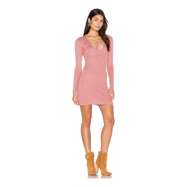 FOR LOVE & LEMONS KNITZ Delancey Dress - 70% lyocell 20% cotton 10% silk. Dry clean only. Unlined....