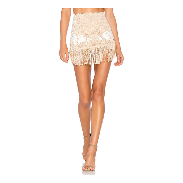 FOR LOVE & LEMONS Matador Mini Skirt - Festive, flirty and just what you want. Rendered in...