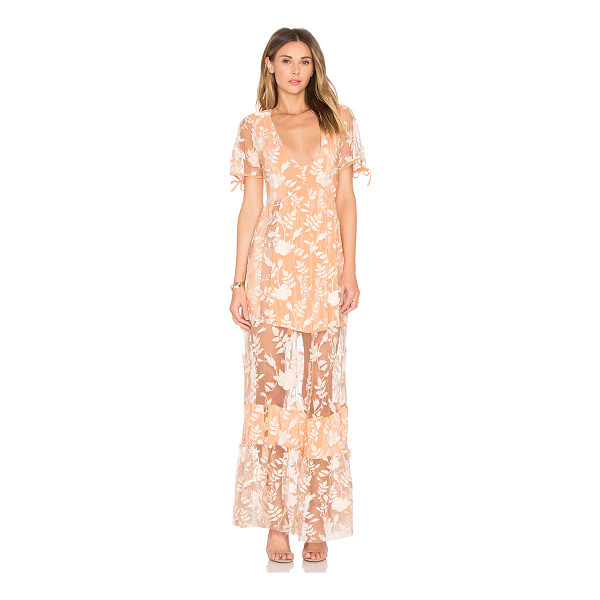 FOR LOVE & LEMONS Mia Maxi Dress - Nylon blend. Hand wash cold. Unlined. Embroidered...