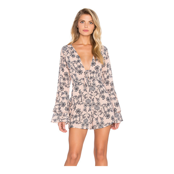 FOR LOVE & LEMONS Pia romper - Poly blend. Hidden back zipper closure. Lace-up front....