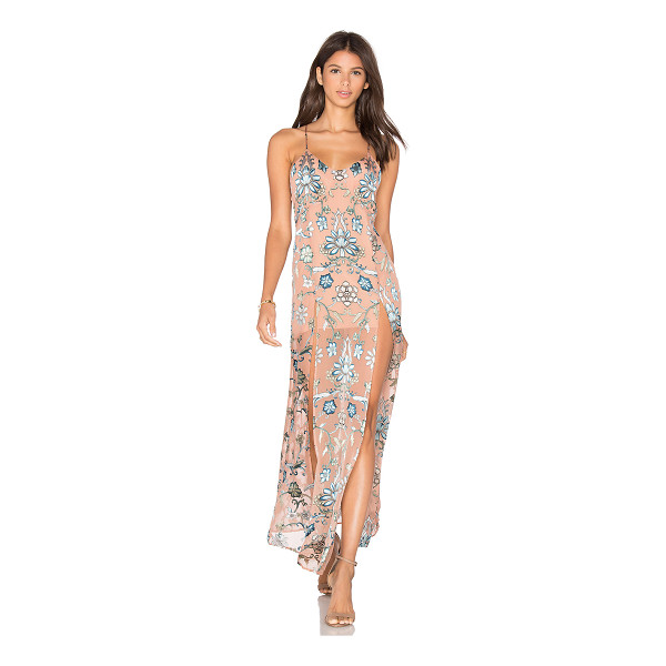 FOR LOVE & LEMONS Saffron Dress - Silk blend. Dry clean only. Partially lined. Adjustable...
