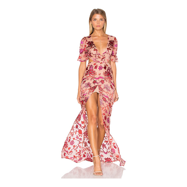 FOR LOVE & LEMONS Saffron Maxi Dress - Silk blend. Dry clean only. Partially lined. Front slit....