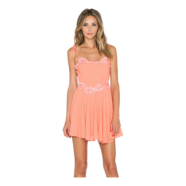 "FOR LOVE & LEMONS Sahara mini dress - Poly blend. Neckline to hem measures approx 24"""" in length...."