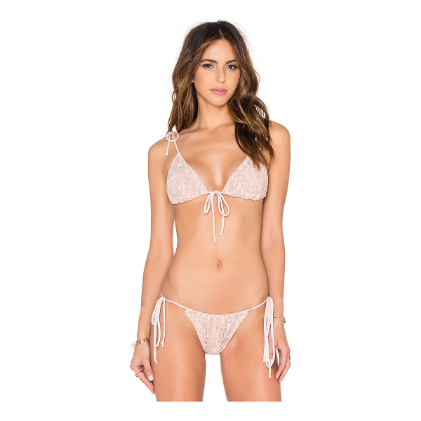 FOR LOVE & LEMONS Sangria Triangle Bikini Top - Nylon blend. Adjustable tie closures. FORL-WX17. SWMT1005....