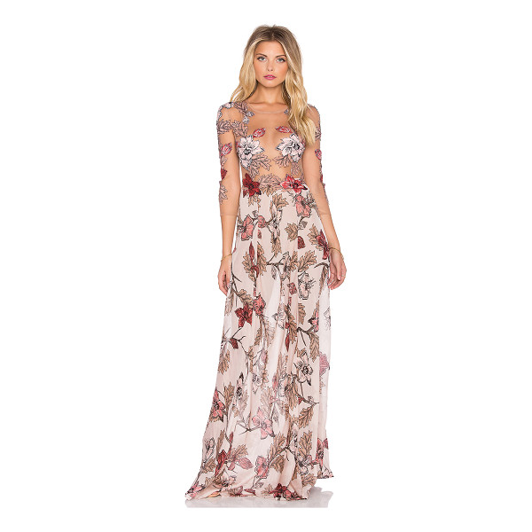 FOR LOVE & LEMONS Sierra maxi dress - Silk blend. Partially lined with attached brief bottoms....