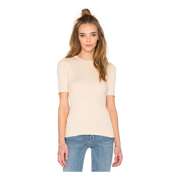 FRAME DENIM Le crew sweater tee - 100% cotton. Dry clean only. Rib knit fabric. FDEN-WS58....