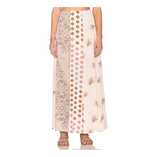 FREE PEOPLE Amazing technicolor skirt - Shell & Lining: 100% rayon. Partially lined. Side hidden...