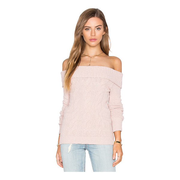 FREE PEOPLE Cable Foldover Top - 99% cotton 1% spandex. Hand wash cold. Ribbed trim....