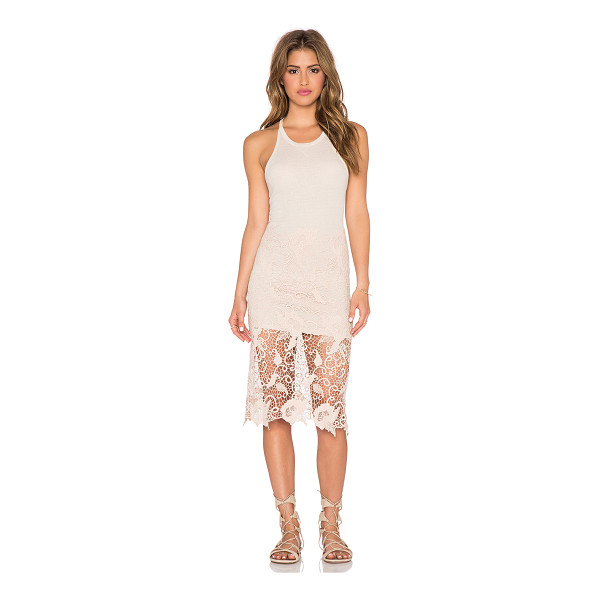 FREE PEOPLE Cotton modal nora tank dress - 50% cotton 50% modal. Partially lined. Back cut-out detail....