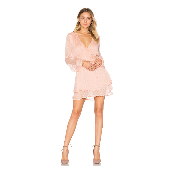FREE PEOPLE Daliah Mini Dress - 100% rayon. Hand wash cold. Fully lined. Surplice neckline....