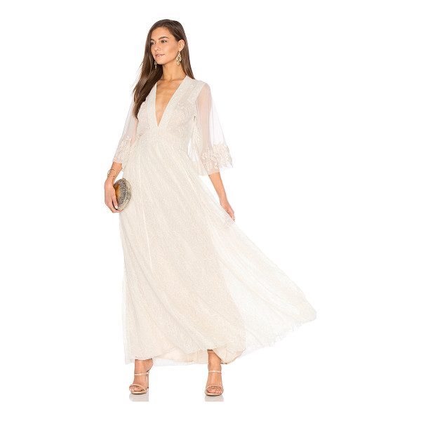 FREE PEOPLE Eclair Embroidered Maxi Dress - Self: 100% nylonContrast: 100% cottonContrast 2: 100%...