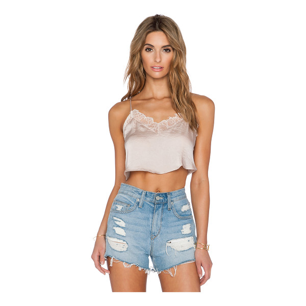 FREE PEOPLE Eclipse crop top - Poly blend. Hand wash cold. Button front closure....