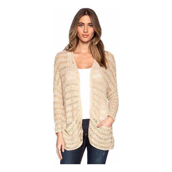 FREE PEOPLE Last night stripe cardigan - 47% cotton 35% rayon 15% linen. Hand wash cold. Open front....