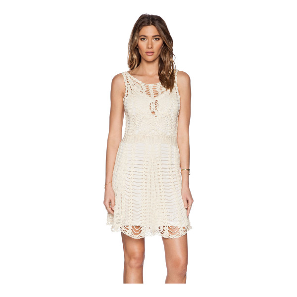 FREE PEOPLE Macrame mini dress - Cotton blend. Fully lined. FREE-WD858. F029Z286. Free...