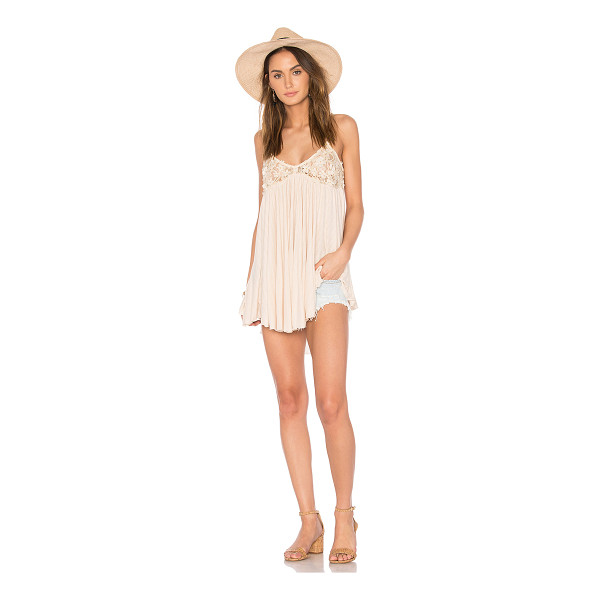 FREE PEOPLE Mad About You Tank - Self: 100% rayonTrim: 38% nylon 31% poly 31% rayon. Hand...