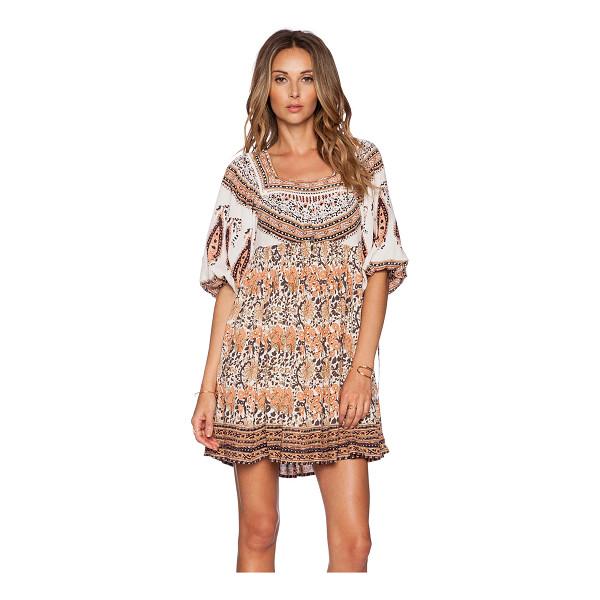 FREE PEOPLE Midsummers dream dress - 100% rayon. Unlined. Drawstring sleeve opening. Back...