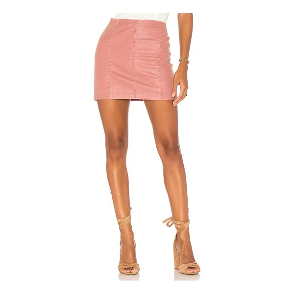 """FREE PEOPLE Modern Femme Vegan Suede Mini Skirt - """"Self & Lining: 100% rayon. Hand wash cold. Fully lined...."""
