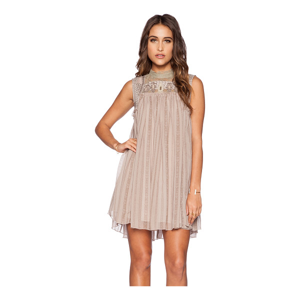 FREE PEOPLE Penny georgette babylon dress - Self: 100% polyContrast: 100% nylon. Hand wash cold. Fully...
