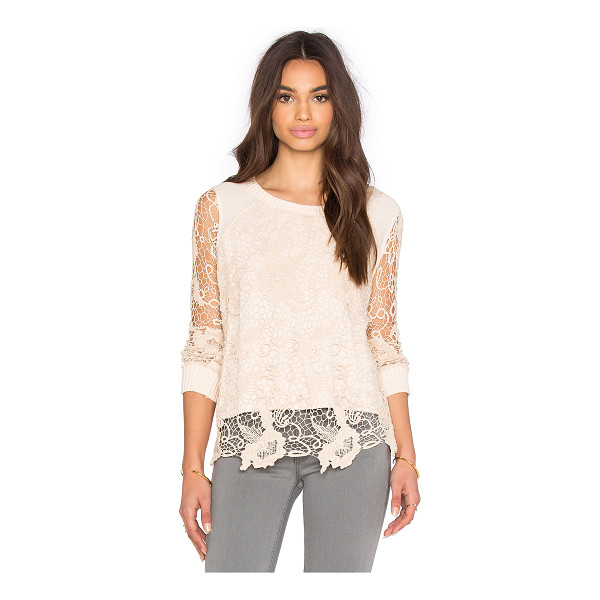 FREE PEOPLE Pretty rad pullover - Self: 68% cotton 22% poly 10% rayonContrast: 100% cotton....