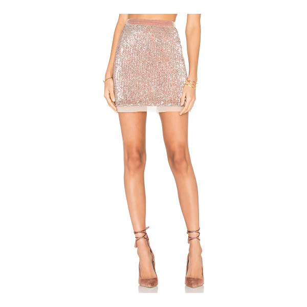 FREE PEOPLE Sequin Mesh Wild Child Skirt - Shell: 100% polyLining: 100% rayon. Hand wash cold. Fully...