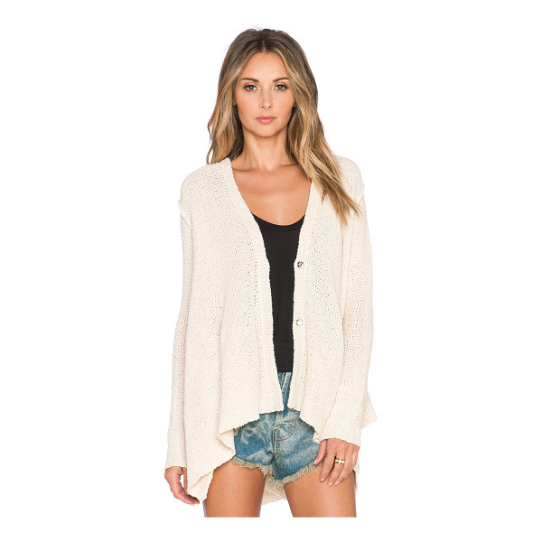 FREE PEOPLE Shark hem cardigan - 84% cotton 16% rayon. Hand wash cold. Button front closure....