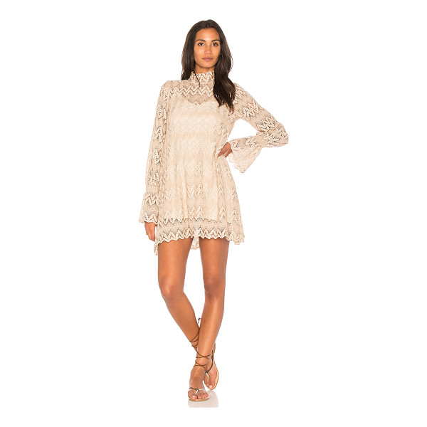 FREE PEOPLE Simone Mini Dress - Self: 100% polyLining: 100% viscose. Fully lined. Allover...