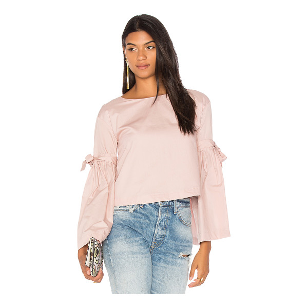 FREE PEOPLE So Obviously Yours Top - 100% cotton. Flared sleeves with self-tie accents. Back...