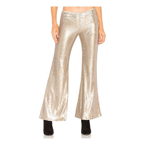"""FREE PEOPLE The Minx Sequin Flare Pant - """"100% nylon. Hand wash cold. Allover sequin embellished..."""