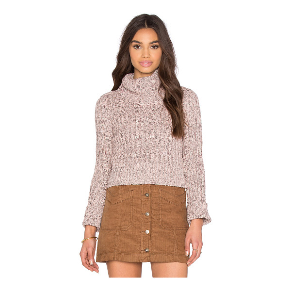 FREE PEOPLE Twisted cable tneck - 83% cotton 10% poly 7% acrylic. Hand wash cold. FREE-WK372....