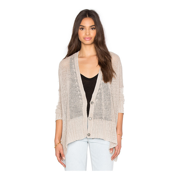 FREE PEOPLE Vee vee cardi - 100% linen. Hand wash cold. Open front. FREE-WK374....