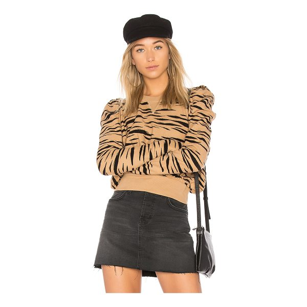 FREE PEOPLE Zaza Zebra Pullover Sweater - 100% cotton. Knit fabric. Banded edges. FREE-WK458....